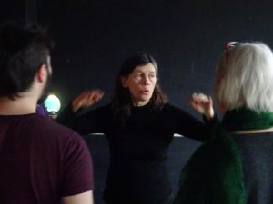 Helen Chadwick leading a workshop. Photo: Helen Varley Jamieson.