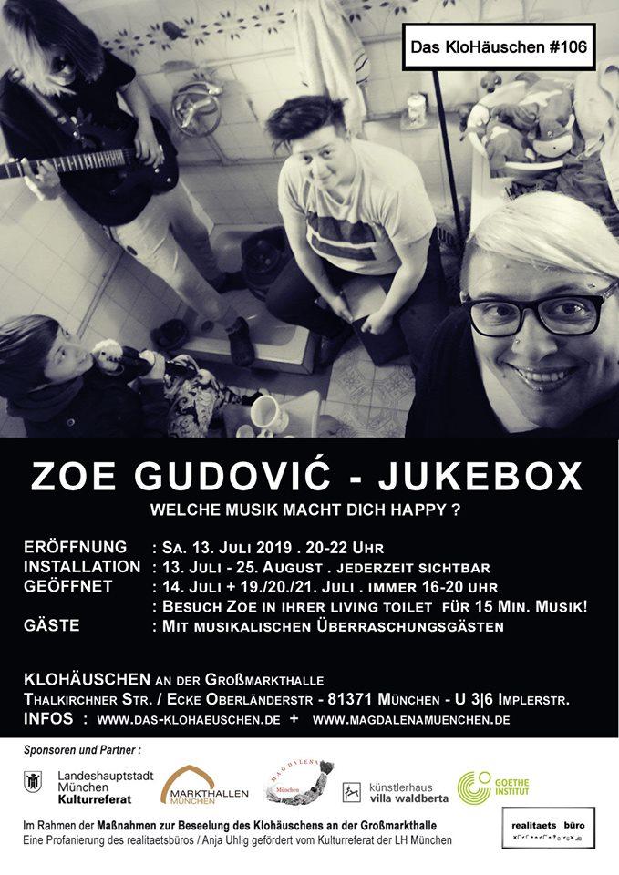 Zoe Gudović at Das KloHäuschen 2019